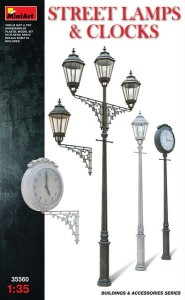 MINIART 35560 1:35 Street Lamps and Clocks
