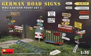 MINIART 35602 1:35 ROAD SIGNS WW2 (EASTERN FRONT SET 1)