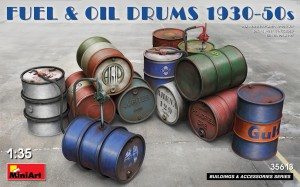 MINIART 35613 1:35 FUEL & OIL DRUMS 1930-50s