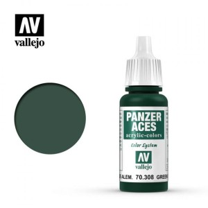 VALLEJO PANZER ACES 70308 GERMAN GREEN TAIL LIGHT 17ml