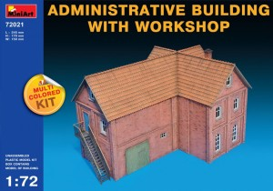 MINIART 72021 1:72 ADMINISTRATIVE BUILDING WITH WORKSHOP