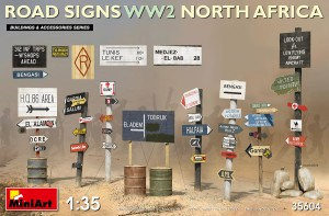 MINIART 35604 1:35 ROAD SIGNS WW2 NORTH AFRICA