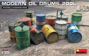 MINIART 35615 1:35 MODERN OIL DRUMS 200L