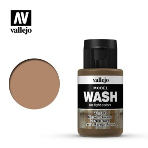 VALLEJO 76514 MODEL WASH - DARK BROWN 35ml