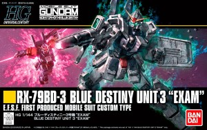 GUNDAM HG 22262 BLUE DESTINY UNIT 3 EXAM