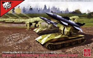 MODELCOLLECT UA72190 1:72 German WWII V4 short range tactical ballistic missile in Waffentrager Auf E100