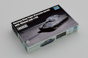 TRUMPETER 07161 1:72 German King Tiger (Porsche turret) with 105mm kwk L/68 - WoT