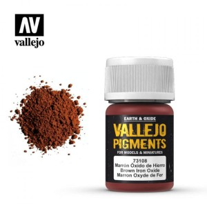 VALLEJO PIGMENT 73108 BROWN IRON OXIDE