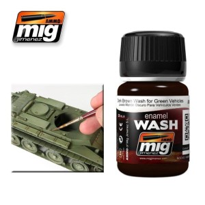 AMMO 1005 DARK BROWN WASH FOR GREEN VEHICLES 35ml