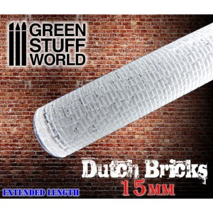 GSW 1626 ROLLING PIN dutch bricks 15mm