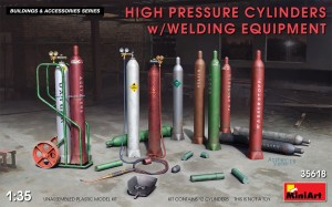 MINIART 35618 1:35 HIGH PRESSURE CYLINDERS w/WELDING EQUIPMENT