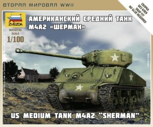 ZVEZDA 6263 1:100 US Medium Tank M4A2 SHERMAN