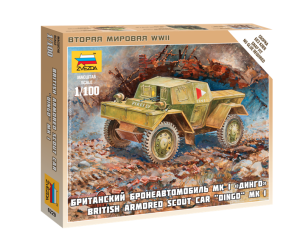 ZVEZDA 6229 1:100 BRITISH ARMORED SCOUT CAR DINGO