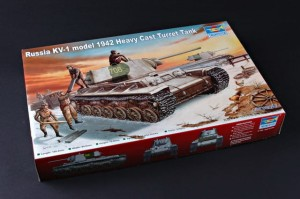 TRUMPETER 00359 1:35 Russia KV-1 model 1942 Heavy Cast Turret Tank