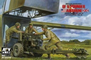 AFV CLUB 35219 1:35 British Ordnance QF 6-pouder Airborne Anti-Tank Mk.IV on Carriage Mk.III