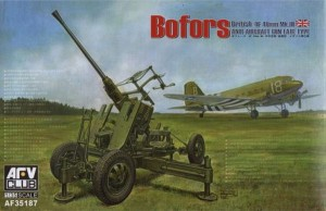 AFV CLUB 35187 1:35 Bofors 40mm Mk III Anti Aircraft Gun (British Version)