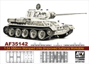 AFV CLUB 35142 1:35 Soviet T-34 550mm Stamped Links (Improved Surface) Workable