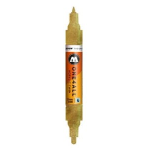 MOLOTOW ONE4ALL TWIN 228 METALLIC GOLD (1,5mm + 4mm)