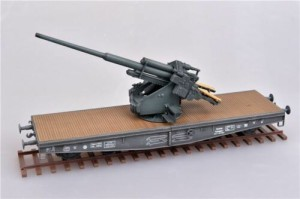 MODELCOLLECT AS72116 1:72 German 128mm Flak40 Anti-Aircraft Railway Car [Die-Cast]