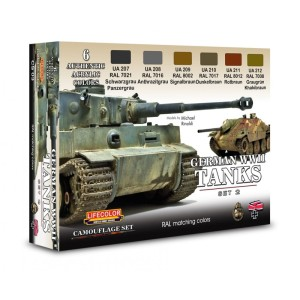 LIFECOLOR CS03 German WWII Tanks Set 2 [PAINT SET]