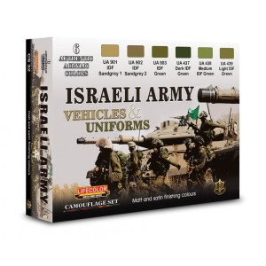 LIFECOLOR CS32 Israeli Army Vehicles & Uniforms [PAINT SET]