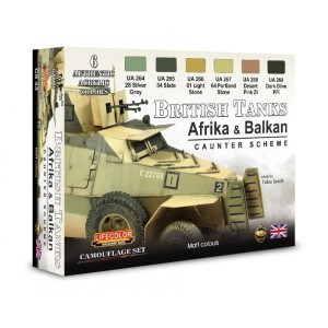LIFECOLOR CS43 British Tanks Africa & Balkan Set 1 [PAINT SET]