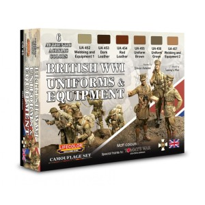 LIFECOLOR CS45 British WWI Uniforms & Equipment [PAINT SET]