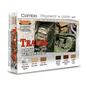 LIFECOLOR SPG02 Tracks Painting & Weathering Pigment & Colour [PAINT SET]