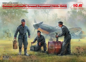 ICM 32109 1:32 German Luftwaffe Ground PERSONNEL (1939-1945)